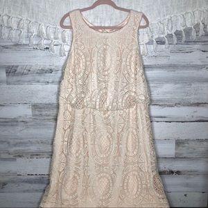 Eliza J bohemian crocheted lace maxi dress